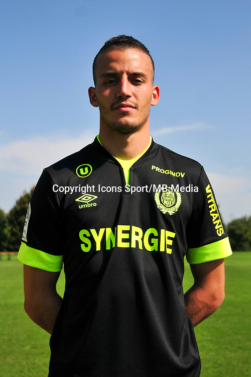 Nassim BADRI - 15.09.2014 - Photo officielle Nantes - Ligue 1 2014/2015<br /> Photo : Philippe Le Brech / Icon Sport
