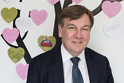 © Licensed to London News Pictures . 17/07/2015 . Manchester , UK . JOHN WHITTINGDALE OBE , MP for Maldon and Secretary of State for Culture Media and Sport , in front of a wall of visitors' messages during a visit to the newly extended and refurbished Whitworth Art Gallery , in Manchester . The venue has been  nominated for this year's (2015) Riba Stirling Prize for the UK's best new building . Photo credit: Joel Goodman/LNP