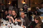 LENKA VYSINOVA; PRINCE ANDREW; MRS. HOWARD BARCLAY; SIR DAVID TANG; JEMIMA KHAN, Chinese New Year dinner given by Sir David Tang. China Tang. Park Lane. London. 4 February 2013.
