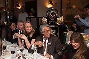 LENKA VYSINOVA; PRINCE ANDREW; MRS. HOWARD BARCLAY; SIR DAVID TANG; JEMIMA KHAN, Chinese New Year dinner given by Sir David Tang. China Tang. Park Lane. London. 4 February 2013.