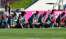 Bayern Munich's players attend a practice session during their winter training camp at the Aspire Academy of Sports Excellence in the Qatari capital Doha on January. 05, 2019. FC Bayern Munich will stay in the Doha until10 January 2019 (X?inhua/Nikku) (Credit Image: © Nikku/Xinhua via ZUMA Wire)