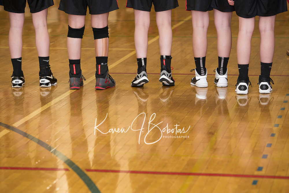 Interlaces v Moultonboro varsity basketball NHIAA Division III.  Karen Bobotas for the Laconia Daily Sun