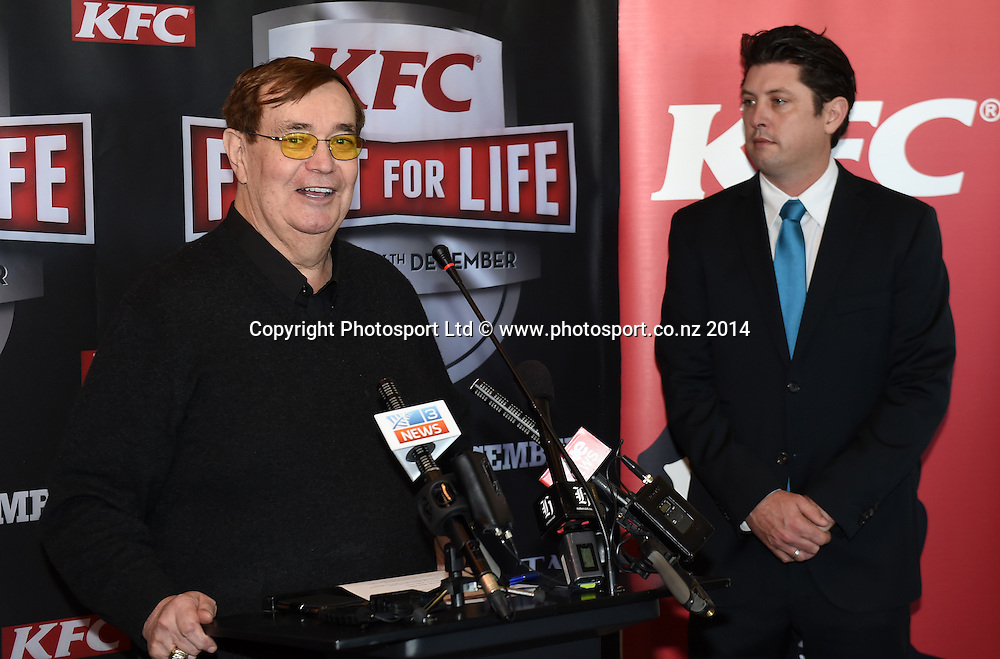 Colonel Bob Sheridan during a press conference for the KFC Fight For Life by Duco Events. Auckland, New Zealand. Wednesday 3 December 2014. Photo: Andrew Cornaga/www.photosport.co.nz.
