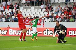 06.08.2013, Georg-Melches-Stadion, Essen, GER, Testspiel, Rot-Weiss Essen vs SV Werder Bremen, im Bild Oezkan Yildirim #32 (SV Werder Bremen) beim Torjubel, Emotion // during a friendly match between Rot-Weiss Essen and SV Werder Bremen at Georg-Melches-Stadion, Essen, Germany on 20130806. EXPA Pictures &copy; 2013, PhotoCredit: EXPA/ Eibner/ Joerg Schueler<br /> <br /> ***** ATTENTION - OUT OF GER *****