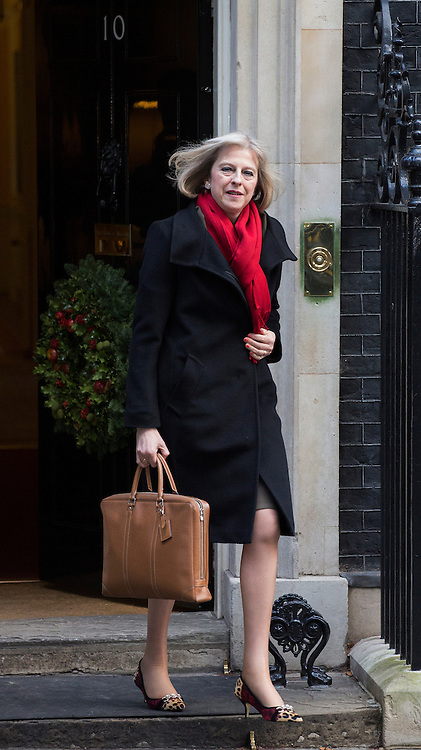 © licensed to London News Pictures. London, UK 04/12/2012. The Home Secretary, Theresa May leaving No10 on Downing Street in London. Photo credit: Tolga Akmen/LNP