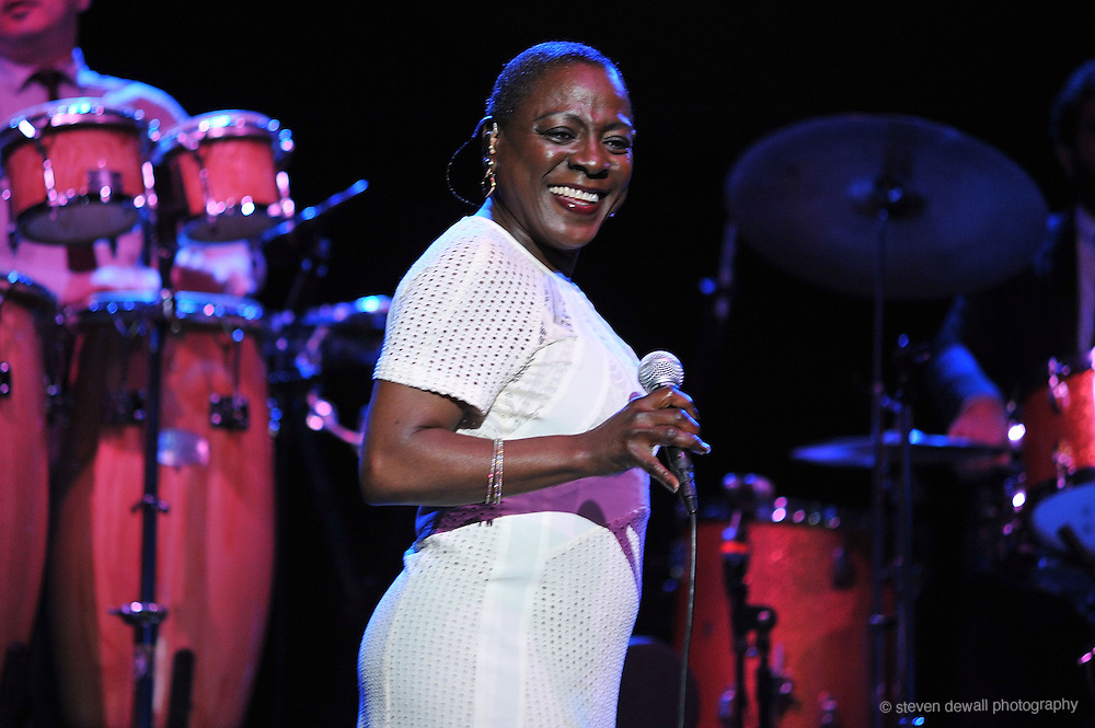 Sharon Jones and The Dap Kings perform live at the Wiltern Theatre on March 25, 2014 in Los Angeles