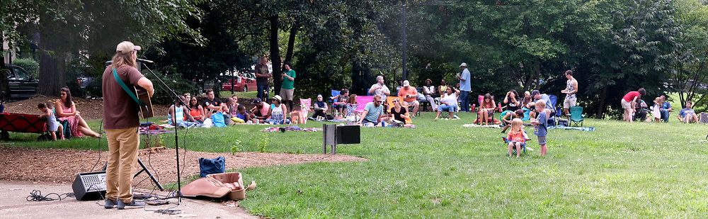Fourth Ward Park  Sunday Picnic in the park with live music. Chase Killough is the guitar player/vocalist here.