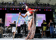 Kevin Aviance performs as SummerStage presents Club Classics Live at Rumsey Playfield in Central Park in New York City, New York on June 28, 2014.