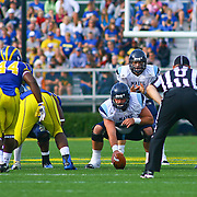 University of Maine quarterback Marcus Wasilewski (7) lines up in shotgun formations during a Week 6 NCAA football game against Delaware.