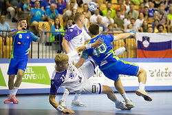 Marko Kotar of Slovenia during handball match between National teams of Slovenia and Iceland in Main Round of 2018 EHF U20 Men's European Championship, on July 25, 2018 in Arena Zlatorog, Celje, Slovenia. Photo by Urban Urbanc / Sportida