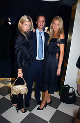 Left to right, LAINEY SHERIDAN-YOUNG, DANIEL BRADMAN and BECKY CORBIN-MURRAY at a party to celebrate the opening of PPQ Mayfair at 47 Conduit Street, London W1 on 18th September 2006.<br />