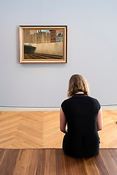 Painting  Approaching a City by Edward Hopper, at exhibition of American art , From Hopper to Rothko at the Barberini Museum in Potsdam , Germany . Editorial Use Only