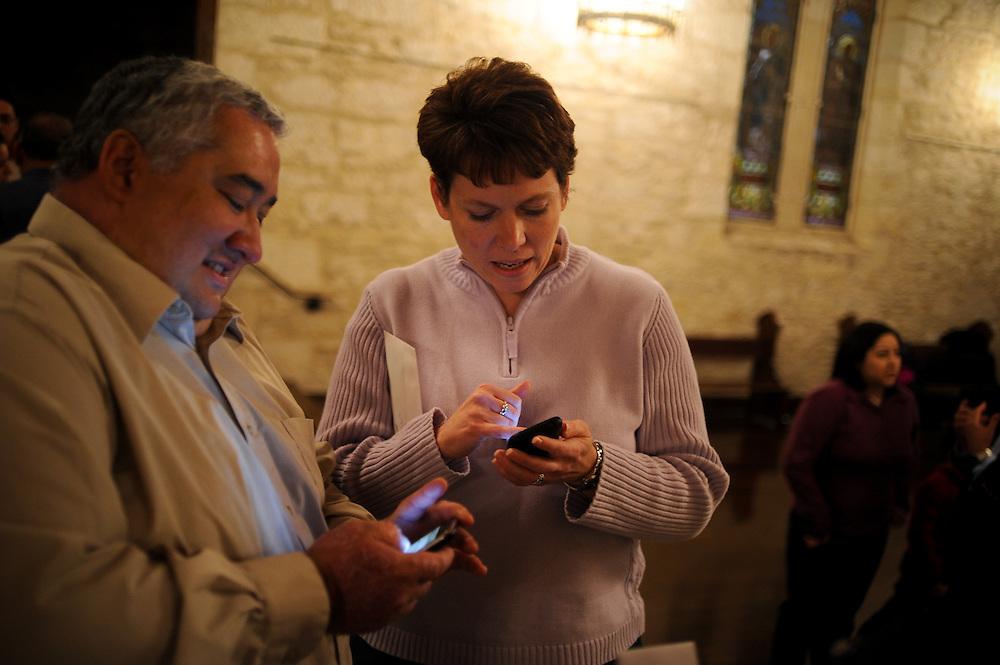 Frank Garcia and Jennifer Gonzales wedding rehearsal Friday, January 29, 2009 at Southwest Craft Center..Photo © Bahram Mark Sobhani