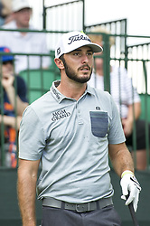 May 5, 2019 - Charlotte, North Carolina, United States of America - Max Homa looks down the fairway after teeing off on the tenth hole during the final round of the 2019 Wells Fargo Championship at Quail Hollow Club on May 05, 2019 in Charlotte, North Carolina. (Credit Image: © Spencer Lee/ZUMA Wire)