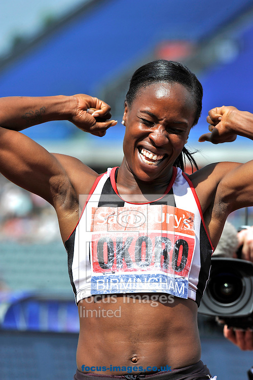 Picture by Alan Stanford/Focus Images Ltd +44 7915 056117<br /> 12/07/2013<br /> Marilyn Okoro (GBR) wins the 800m final on day two of Sainsbury's British Championship at Alexander Stadium, Birmingham.