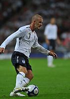 Photo: Tony Oudot/Richard Lane Photography.  England v Czech Republic. International match. 20/08/2008. <br /> David Beckham of England