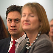 © Licensed to London News Pictures.01/03/2014. LONDON, UK (L-R) Ed Miliband, leader of the Labour Party, Harriet Harmen, Deputy leader of the Labour Party. The Labour Party Special conference today at Excel London on 1st March 2014.  Photo credit : Stephen Simpson/LNP