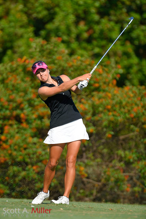 Anne-Catherine Tanguay during the final round of the Chico's Patty Berg Memorial on April 19, 2015 in Fort Myers, Florida. The tournament feature golfers from both the Symetra and Legends Tours.<br /> <br /> &copy;2015 Scott A. Miller
