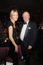 The DUCHESS OF ROXBURGHE and ANDREW PARKER BOWLES at the annual Cartier Racing Awards held at the Grosvenor House Hotel, Park Lane, London on 17th November 2008.
