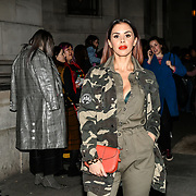 Shanie Ryan attend Fashion Scout LFW AW19 Day 1 at Freemasons' Hall, London, UK. 15 Feb 2019