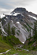 Table Mountain from the Bagley Lakes Trail in the Mount Baker-Snoqualmie National Forest, Washington State, USA