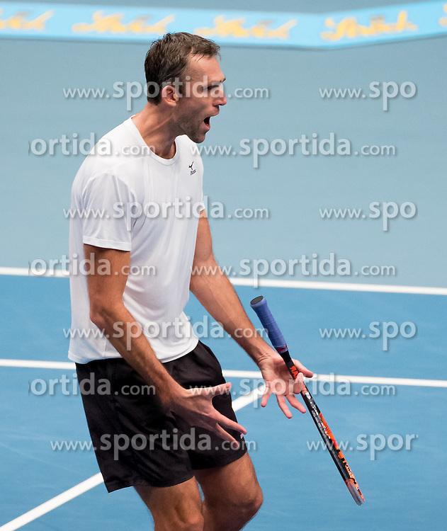 24.10.2016, Stadthalle, Wien, AUT, ATP Tour, Erste Bank Open, 1. Runde, im Bild Ivo Karlovic (CRO) // Ivo Karlovic of Croatia celebrating after the 1st round match of Erste Bank Open of ATP Tour at the Stadthalle in Vienna, Austria on 2016/10/24. EXPA Pictures © 2016, PhotoCredit: EXPA/ Sebastian Pucher