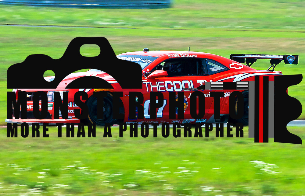 Schaldach &amp; Skeen drivers of the No. 07 Camaro GT.R speeds down the straightaway during qualifying Friday, July 22, 2011, at New Jersey Motorsports Park in Millville New Jersey.<br />