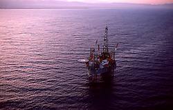 Stock photo of an offshore jack-up drilling rig in the Gulf of Suez,Egypt