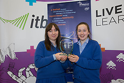 "Winners of the Scifest 2014 Horticulture Award (ITB) were Emily Browne and Tara McMullen from Mount Sackville for their project ""All Fruit are not created equal"" at SciFest@ITB 2014. Post-primary school students from schools all over Dublin took  science to the next level with over 120 projects at SciFest@ITB 2014 in Institute of Technology Blanchardstown (ITB). The SciFest@ITB programme saw over 260 students from schools all over the region exhibit more than 120 projects at ITB and put their knowledge of science to the test! Picture Andres Poveda"