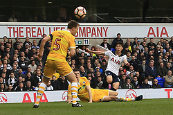 12 March 2017 - The FA Cup - (Sixth Round) - Tottenham Hotspur v Millwall - Son Heung-min of Tottenham Hotspur scores their 2nd goal - Photo: Marc Atkins / Offside.