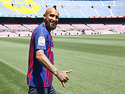 Presentation of Arturo Vidal as new player of the FC Barcelona, at Camp Nou Stadium, in Barcelona, Spain, on August 6, 2018 - Photo Pressinphoto / Pro Shots / ProSportsImages / DPPI