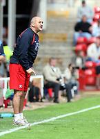 Photo: Mark Stephenson.<br /> Walsall v Port Vale. Coca Cola League 1. 08/09/2007.Walsall manager Richard Money