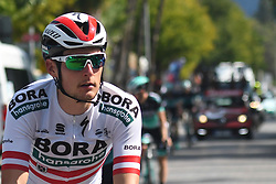 October 11, 2018 - Marmaris, Turkey - Lukas Postlberger from Bora - Hansgrohe Team ahead of the third stage - the Troy Stage 137.2km Fethiye - Marmaris, of the 54th Presidential Cycling Tour of Turkey 2018. .On Thursday, October 11, 2018, in Marmaris, Turkey. (Credit Image: © Artur Widak/NurPhoto via ZUMA Press)