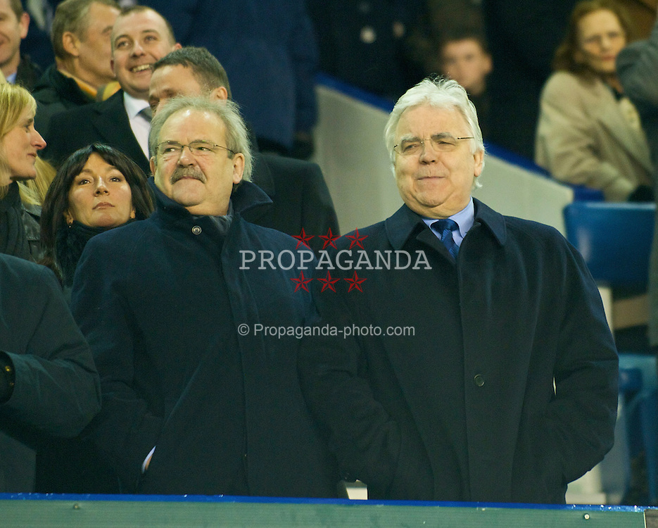 LIVERPOOL, ENGLAND - Wednesday, February 4, 2009: Everton's chairman Bill Kenwright before his side's FA Cup 4th Round Replay match against Liverpool at Goodison Park. (Mandatory credit: David Rawcliffe/Propaganda)