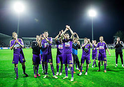 Players of Maribor celebrate after winning the football match between FC Luka Koper and NK Maribor in 30th Round of Prva liga Telekom Slovenije 2013/14, on April 26, 2014 in Stadium Bonifika, Koper, Slovenia. Photo by Vid Ponikvar / Sportida