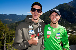 Jure Sinkovec and Dejan Judez at media day of Slovenian Ski jumping team during construction of two new ski jumping hills HS 135 and HS 105, on September 18, 2012 in Planica, Slovenia. (Photo By Vid Ponikvar / Sportida)