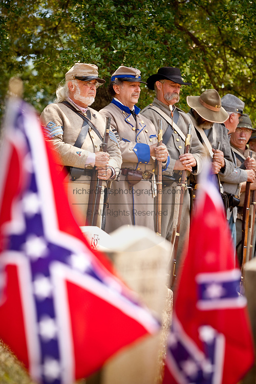 Confederate re-enactors gather at Magnolia Cemetery in honor of Confederate Memorial Day May 10, 2010 in Charleston, SC. The Civil War began in Charleston and Magnolia Cemetery is the resting place of more than 2000 confederate soldiers.
