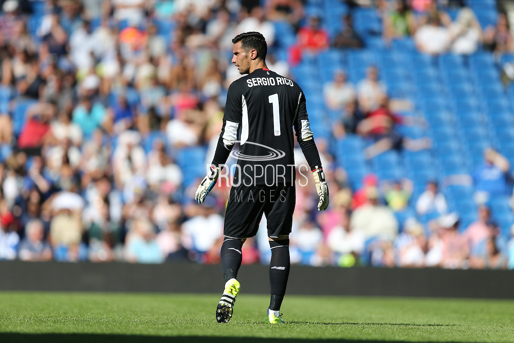 Sergio Rico of Sevilla during the Pre-Season Friendly match between Brighton and Hove Albion and Sevilla at the American Express Community Stadium, Brighton and Hove, England on 2 August 2015.