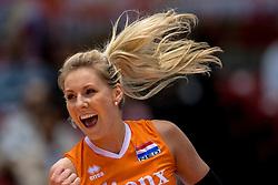 18-05-2016 JAP: OKT Nederland - Dominicaanse Republiek, Tokio<br /> Nederland is weer een stap dichterbij kwalificatie voor de Olympische Spelen. Dit dankzij een 3-0 overwinning op de Dominicaanse Republiek / Laura Dijkema #14
