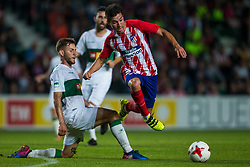 October 25, 2017 - Elche, Elche, Spain - Ivan Calero of Elche and Nico Gaitan of Atletico de Madrid competes for the ball during the Spanish Copa del Rey (King's Cup) round of 32 first leg football match between.Elche CF and Atletico de Madrid at the Martinez Valero stadium in Elche (Credit Image: © Sergio Lopez/Pacific Press via ZUMA Wire)