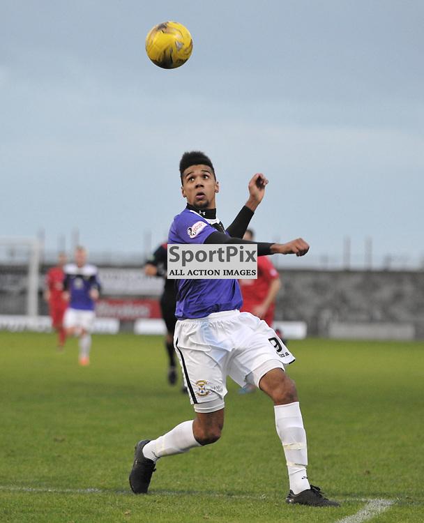 Nathan Austin (East Fife, purple)<br /> <br /> East Fife v Montrose, SPFL League 2, 19th December 2015<br /> <br /> (c) Alex Todd | SportPix.org.uk