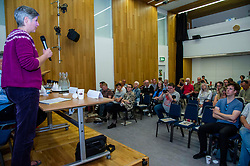 Pictured: Eva Schornveld addresses the meeting<br />