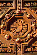 MEXICO, COLONIAL CITIES Zacatecas; Cathedral door detail