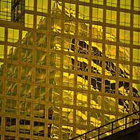 This is the Goldman Saks building reflected in the American Express Building. The two titans of Wall Street make up Liquid Gold.