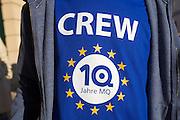 Vienna. MuseumsQuartier (MQ Vienna) is celebrating its 10th year. Crew member.