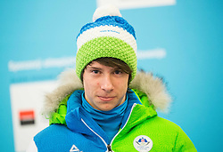 Jaka Matko during presentation of Slovenian Young Athletes before departure to EYOF (European Youth Olympic Festival) in Vorarlberg and Liechtenstein, on January 21, 2015 in Bled, Slovenia. Photo by Vid Ponikvar / Sportida