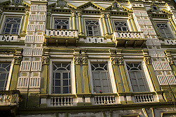 Historic building, Cuenca, Ecuador, South America.   Cuenca is a UNESCO World Heritage Site.
