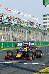March 16, 2019 - Melbourne, Victoria, Australia - Max Verstappen (33) of the Netherlands drives the Aston Martin Red Bull Racing RB15 during qualifying for the Australian Formula 1 Grand Prix at Albert Park on March 16, 2019 in Melbourne, Australia  (Credit Image: © Morgan Hancock/NurPhoto via ZUMA Press)