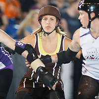 The Oly Rollers defeated the Rose City Roller in the semi-finals on the second day of the Women Flat Track Derby Association Western Regions, in the Memorial Coliseum, in Portland Ore., on Saturday Sept. 24, 2011.