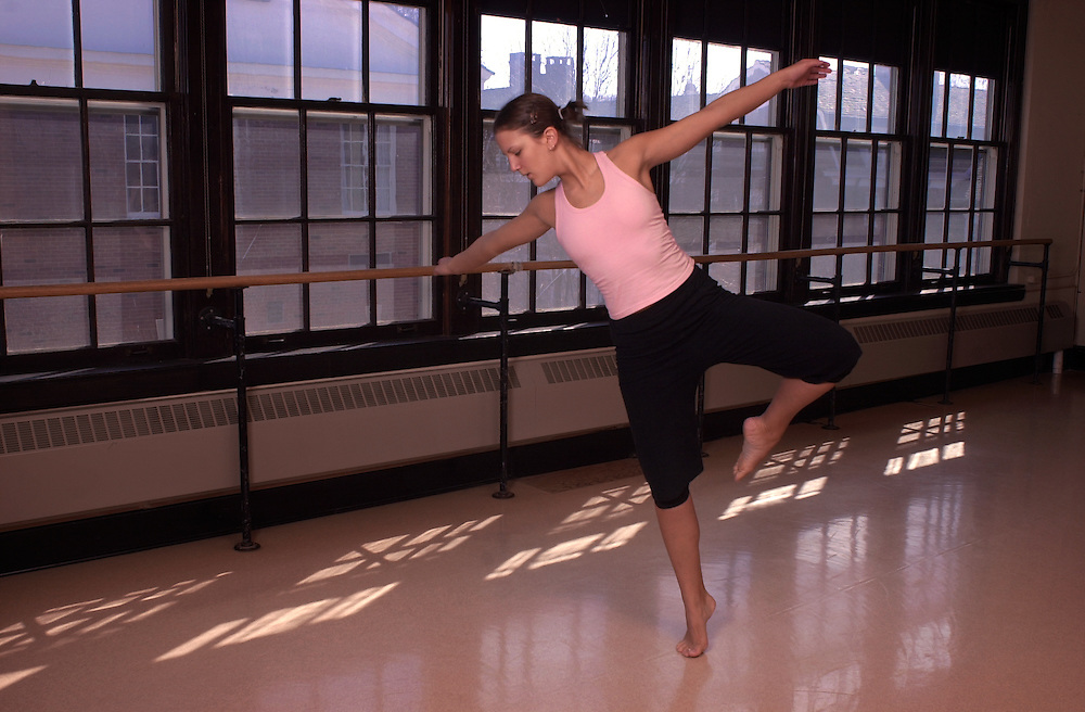 15779Dance student Molly Schneider Dancing in Studio